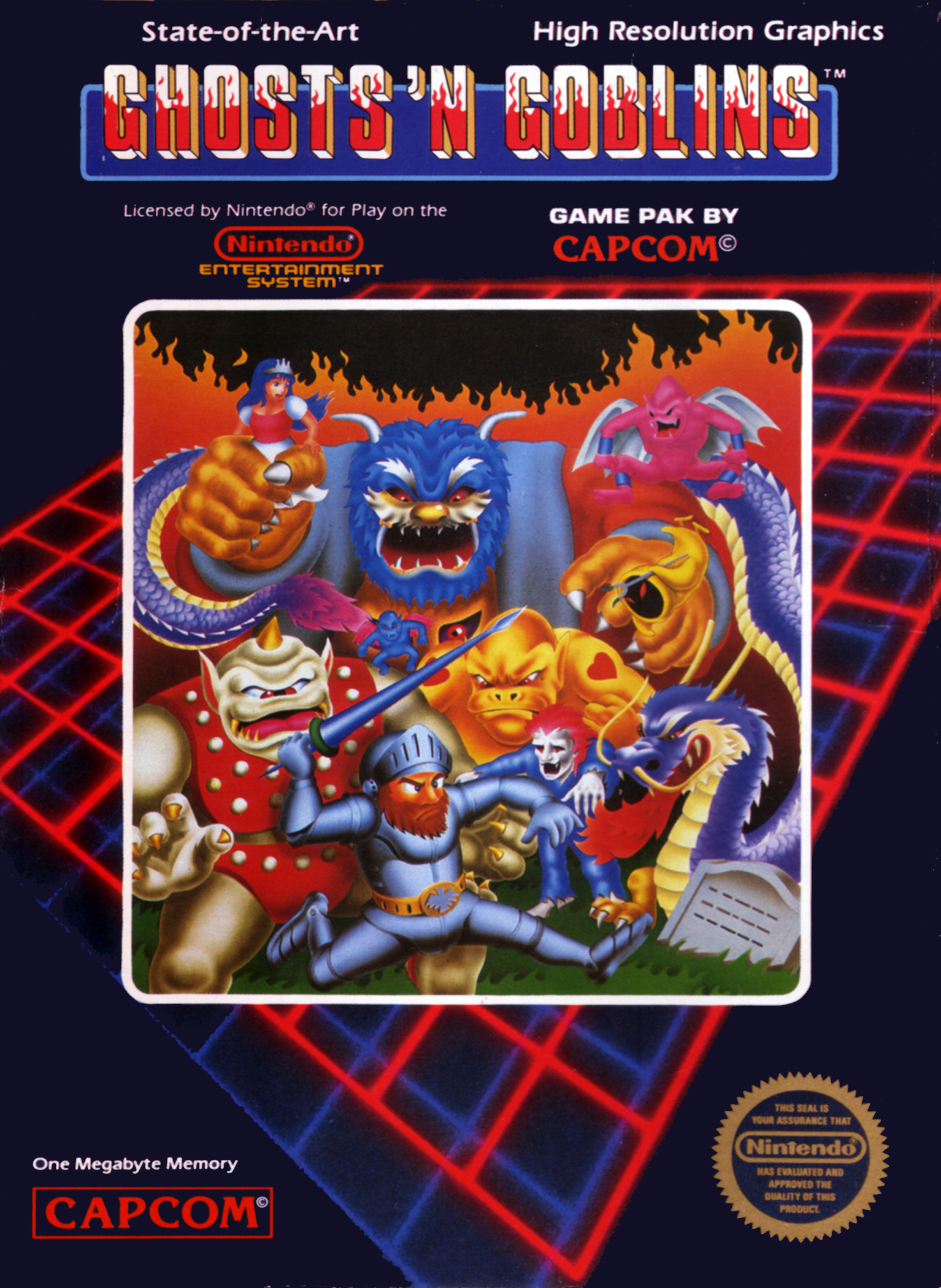 Ghosts 'n Goblins series box art page| BOX=ART